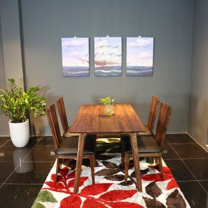 bàn ăn gỗ óc chó furnist kimono