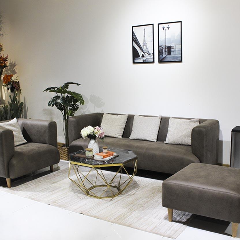 Sofa vải đồng điệu với toàn bộ không gian