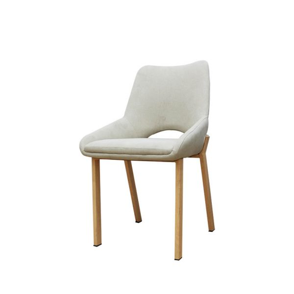 ghế bọc vải chân kim loại giả gỗ furnist crescent