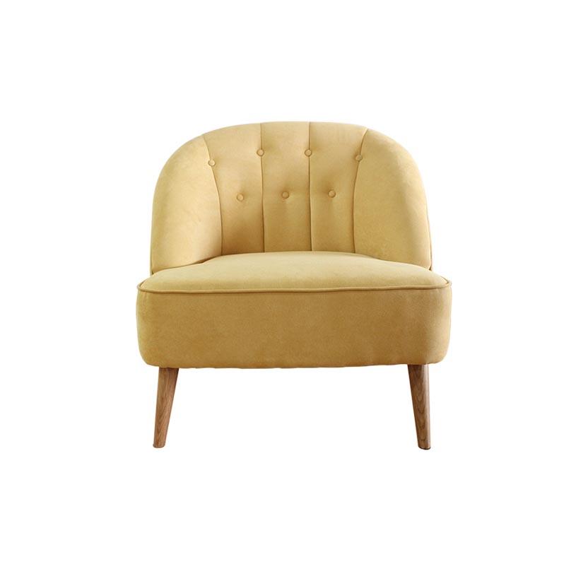 Sofa bọc vải chân gỗ sồi tự nhiên furnist bryce