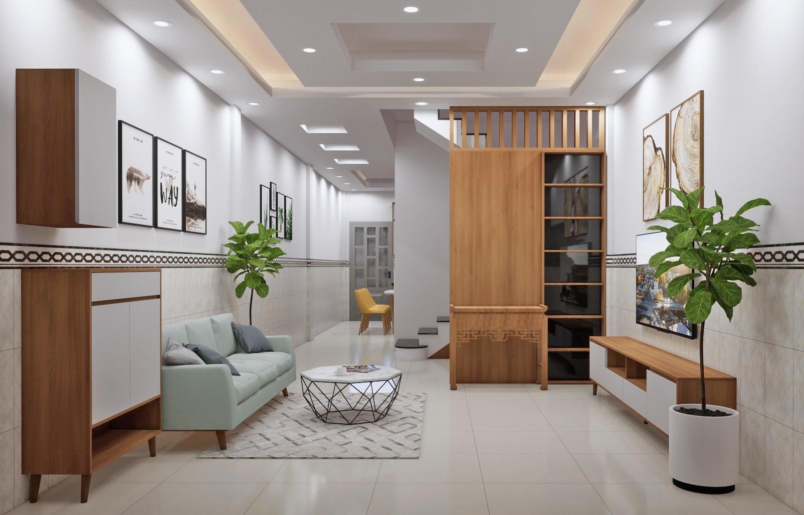 thiết kế nội thất nhà phố - Chị Phối Thương xá Nhị Thiên Đường - quận 8